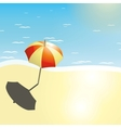 Beach and umbrella in a summer design vector image vector image