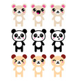 bears-kawaii-icons-set-2 vector image vector image
