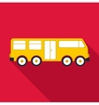 Big bus icon flat style vector image vector image