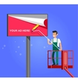Blank billboard for new advertisement vector image