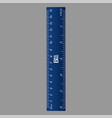 blue ruler icon realistic style vector image