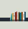 book shelf realistic 3d color design bookstore