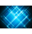 Bright blue design with glowing stripes vector image vector image
