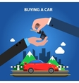 Buying A Car Concept vector image vector image
