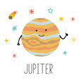 cartoon funny planet vector image