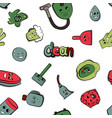 cartoon items for cleaning vector image vector image