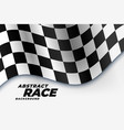 checkered racing flag sports background vector image