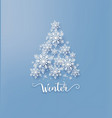 christmas card with paper cut snow flake vector image vector image