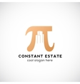 Constant Estate Abstract Icon Label or vector image vector image