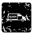 Delivery van icon grunge style vector image vector image