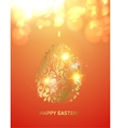 easter egg with spheres bokeh vector image vector image