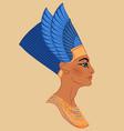 egyptian queen nefertiti isolated on white vector image