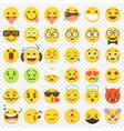 emoji big flat set 2 vector image