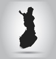 finland map black icon on white background vector image