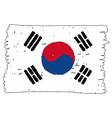 Flag of Flag South Korea handmade vector image
