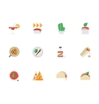 Flat color design mexican cuisine icons vector image vector image