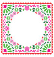 folk greeting card mexican invitation vector image vector image