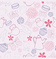 garden tea party seamless pattern design vector image