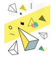 geometric elements in the memphis style colorful vector image vector image