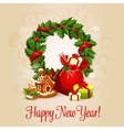 Happy New Year greeting card or poster design vector image vector image