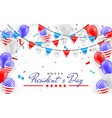 happy president day hanging bunting flags vector image vector image