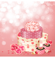 heart shaped gifts sweets vector image