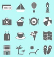 Holiday icons on light background vector image