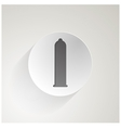 icon for condom vector image
