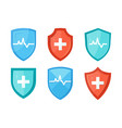 immune system icon in flat style vector image vector image
