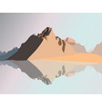 landscape of mountains vector image