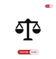 law scale icon justice symbol vector image vector image