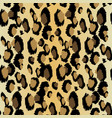 leopard pattern seamless print realistic vector image vector image