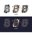 letter b latin alphabet display vector image