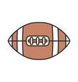 line color icon leather rugby ball sport vector image