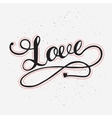 love card with hand drawn lettering vector image vector image
