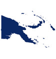 map papua new guinea in blue colour vector image vector image