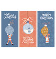 merry christmas greeting card design collection vector image