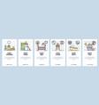 mobile app onboarding screens new born baroom vector image vector image