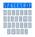 Modern font with monospaced typeface vector image vector image