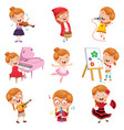 of little girl performing art vector image vector image