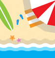 on the beach top view flat style vector image