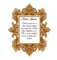 ornate vintage frame with space for your text vector image vector image