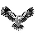 owl bird for mascot or tattoo design or idea of vector image vector image