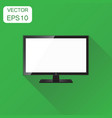 realistic tv screen icon business concept vector image vector image