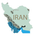 reservoirs oil in iran vector image vector image