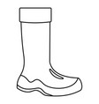 rubber boots icon outline style vector image vector image