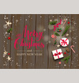 rustic holiday vector image vector image
