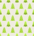 seamless christmas pattern green fir and pine tree vector image
