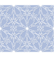 Seamless white lace pattern on blue background vector image vector image