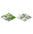 set isometric modules vector image vector image